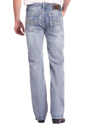 ReFlex Double Barrel Straight Abstract Jean ROCK&ROLL M0S6607