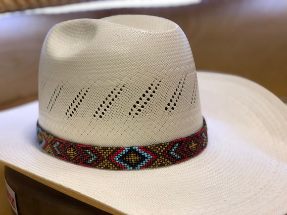 HAT BEADED BAND (para sombero) :BROWN