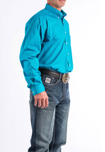Cinch Men's Solid Turquoise Button-Down Western Shirt MTW1103800-TEAL