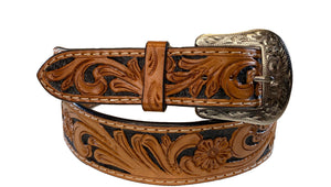 TWISTED X BELT TOOLED LEATHER XIBN-3