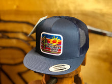 Load image into Gallery viewer, Whiskey Bent Hat Co : Serape Navy Trucker Cap Cap Snapback