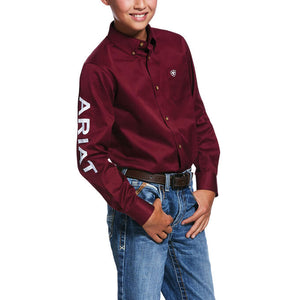 KIDS' Team Logo Twill Classic Fit Shirt 10030163
