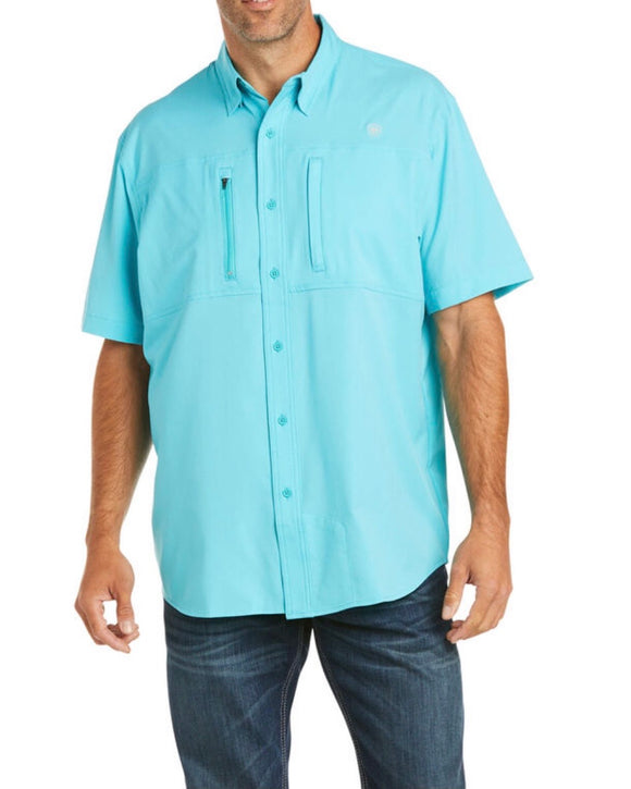 MEN'S ARIAT VENTTEK CLSSC SS SHIRT AQUA (10034963)