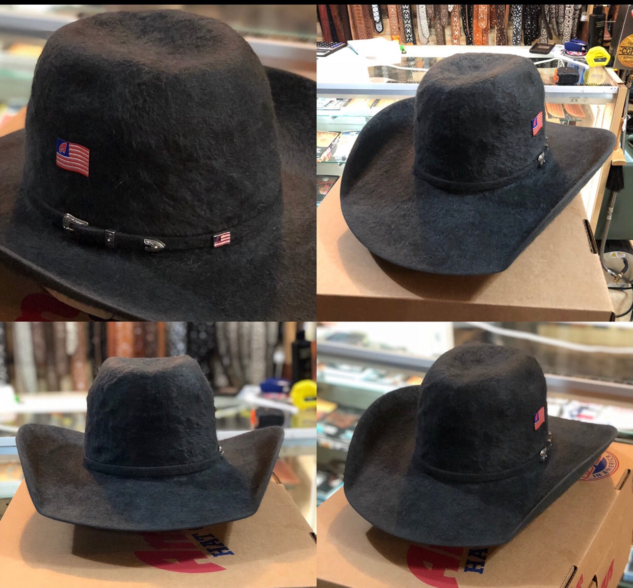 20x AMERICAN HAT CHARCOAL GRIZZLY