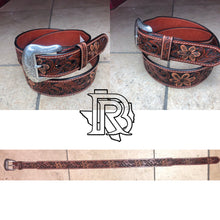 Load image into Gallery viewer, RANGER BELT COMPANY: TOOLED LEATHER TAN WB3971