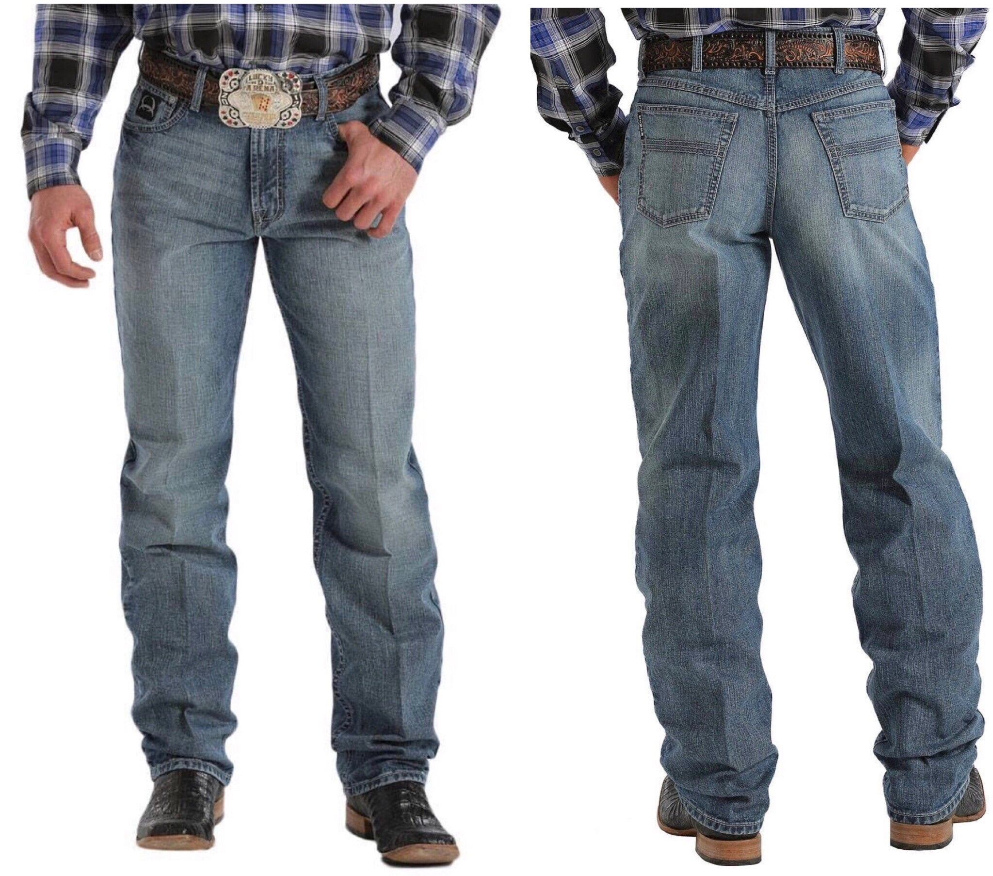CINCH MENS LOOSE FIT BLACK LABEL 2.0 JEANS - MEDIUM STONEWASH MB90633006