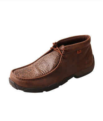 TWISTED X | Brown/Brown Print Men's Driving Moccasins TOOL LEATHER