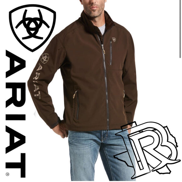 MEN'S Ariat Brown Logo 2.0 Softshell Jacket 10028292