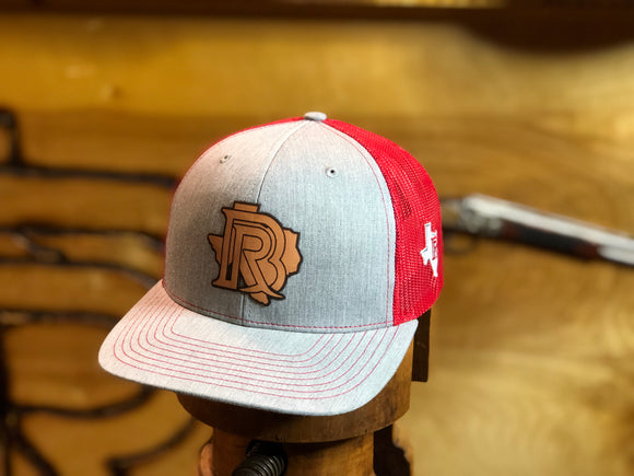 BR CAP Denim/Red - LEATHER PATCH EDITION