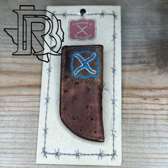 TWISTED X - KNIFE SHEATH Ostrish print