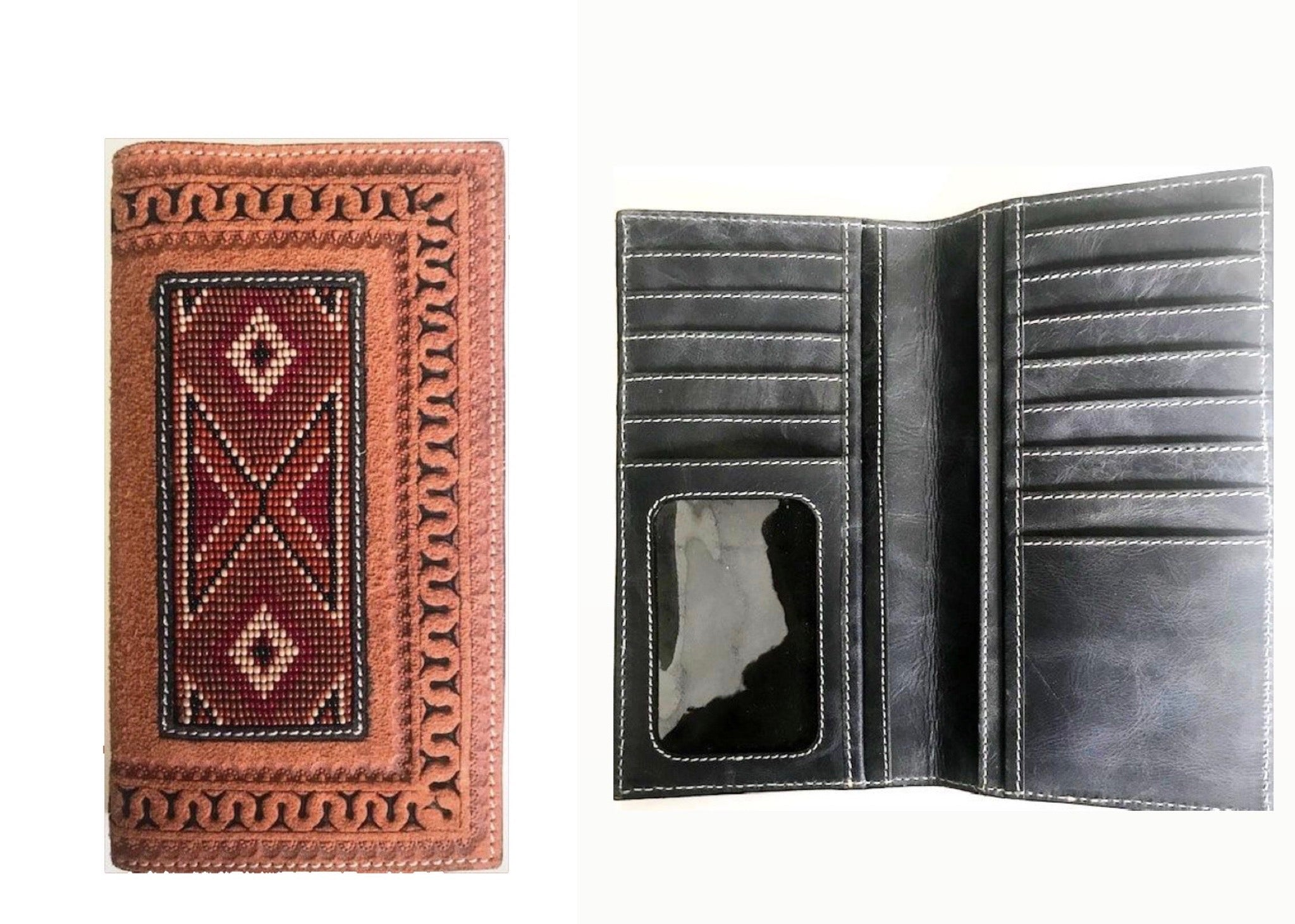 Western Aztec Beaded Rodeo Twisted-X Wallet XIH-22