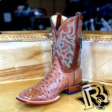 Load image into Gallery viewer, TRUMAN COGNAC FULL QUILL JUSTIN BOOTS