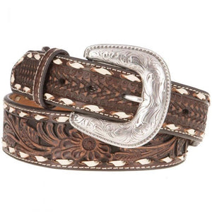 Ariat Men's Taper Floral Genuine Leather Western Belt - A1033002