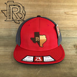 BR Leather Patch EDITION : Red/Gray