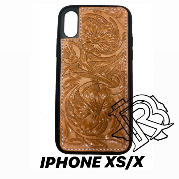 IPHONE XS/X TOOLED LEATHER CASE