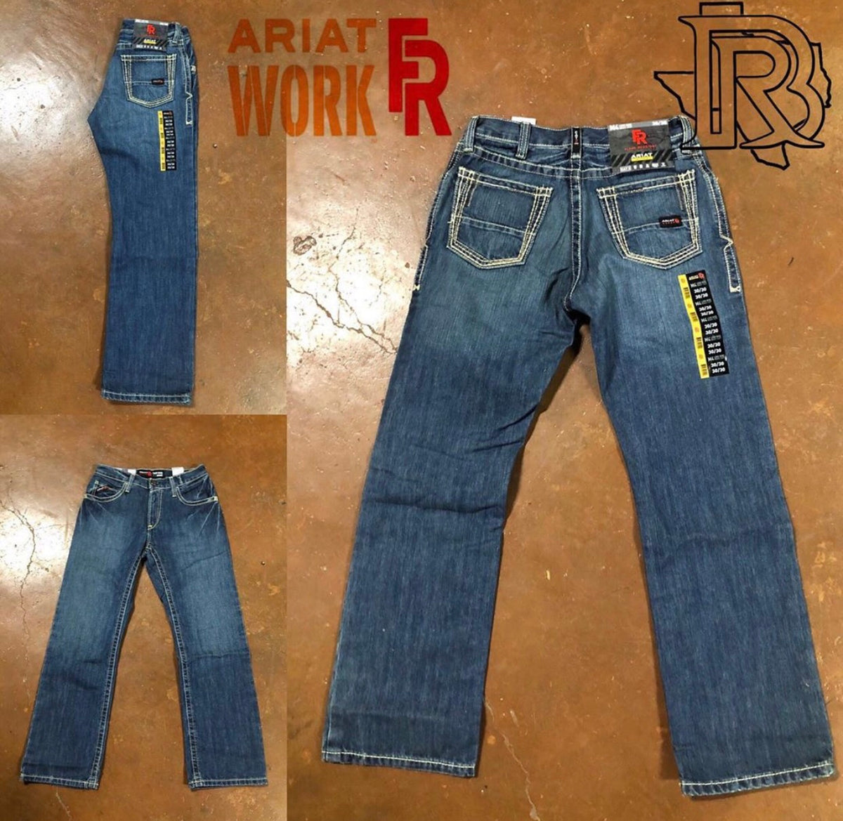 Ariat Fr M4 Clay Low Rise Boundary Boot Cut Jean 10016173 Botas Rojero