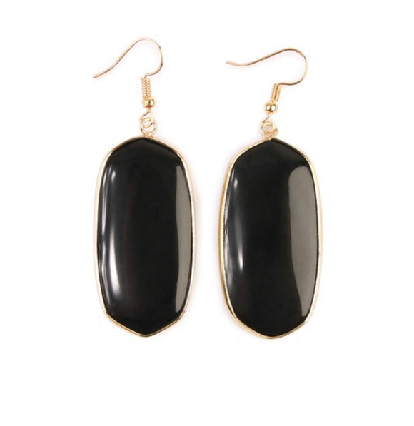 Black rock earrings