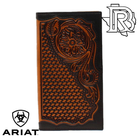 ARIAT RODEO WALLET TOOLED LEATHER A3528867