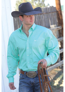 CINCH MENS LONG SLEEVE SOLID - GREEN MTW1104237
