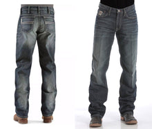 Load image into Gallery viewer, MENS RELAXED FIT WHITE LABEL JEANS - DARK STONEWASH MB92834019