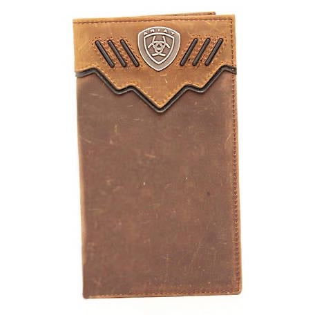 ARIAT Rodeo Wallet  Double Overlay with Contrast Lacing  Ariat Shield Concho A3520844