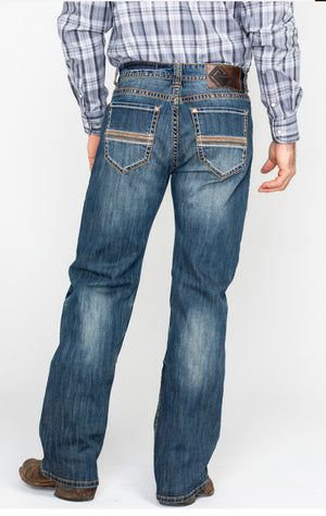 Rock & Roll Cowboy Men's Multi Thread Reflex Relaxed Straight Jeans M0S1059