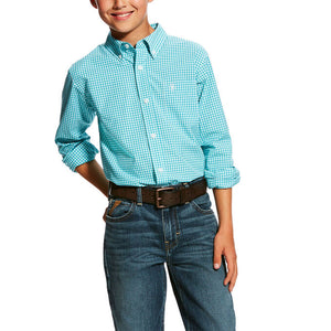 KIDS' ARIAT Hallaway LONG SLEEVE Perf Shirt 10025441