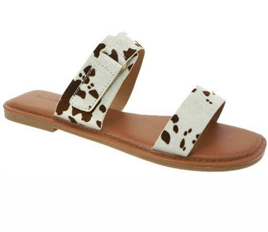 Chester Cow Brown Sandals