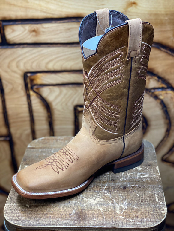 LIGHT BROWN BOOTS HANDMADE SQUARE TOE