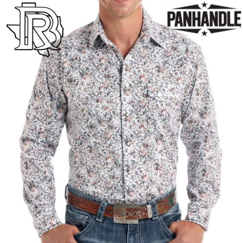 Long Sleeve Kavlova Antique Print Snap Shirt PANDHANDLE SHIRT Long Sleeve R0S9430