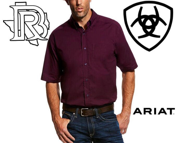 Ariat Poplin Short Sleeve Solid Stretch Shirt 10026520