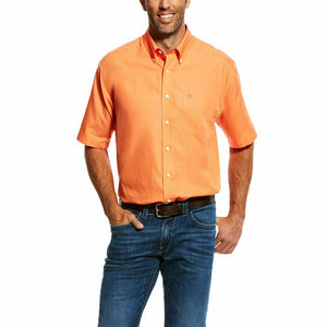 Ariat 10026550 Men's Prawn Wrinkle Free Solid Short Sleeve Button Down Shirt