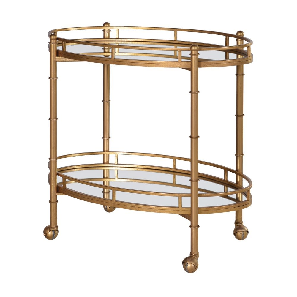 DRINKS TROLLEY ANTIQUE GOLD