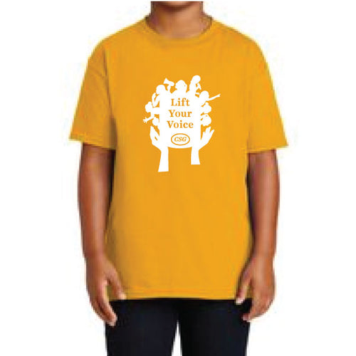 T-shirt - Youth Lift Your Voice (Yellow)