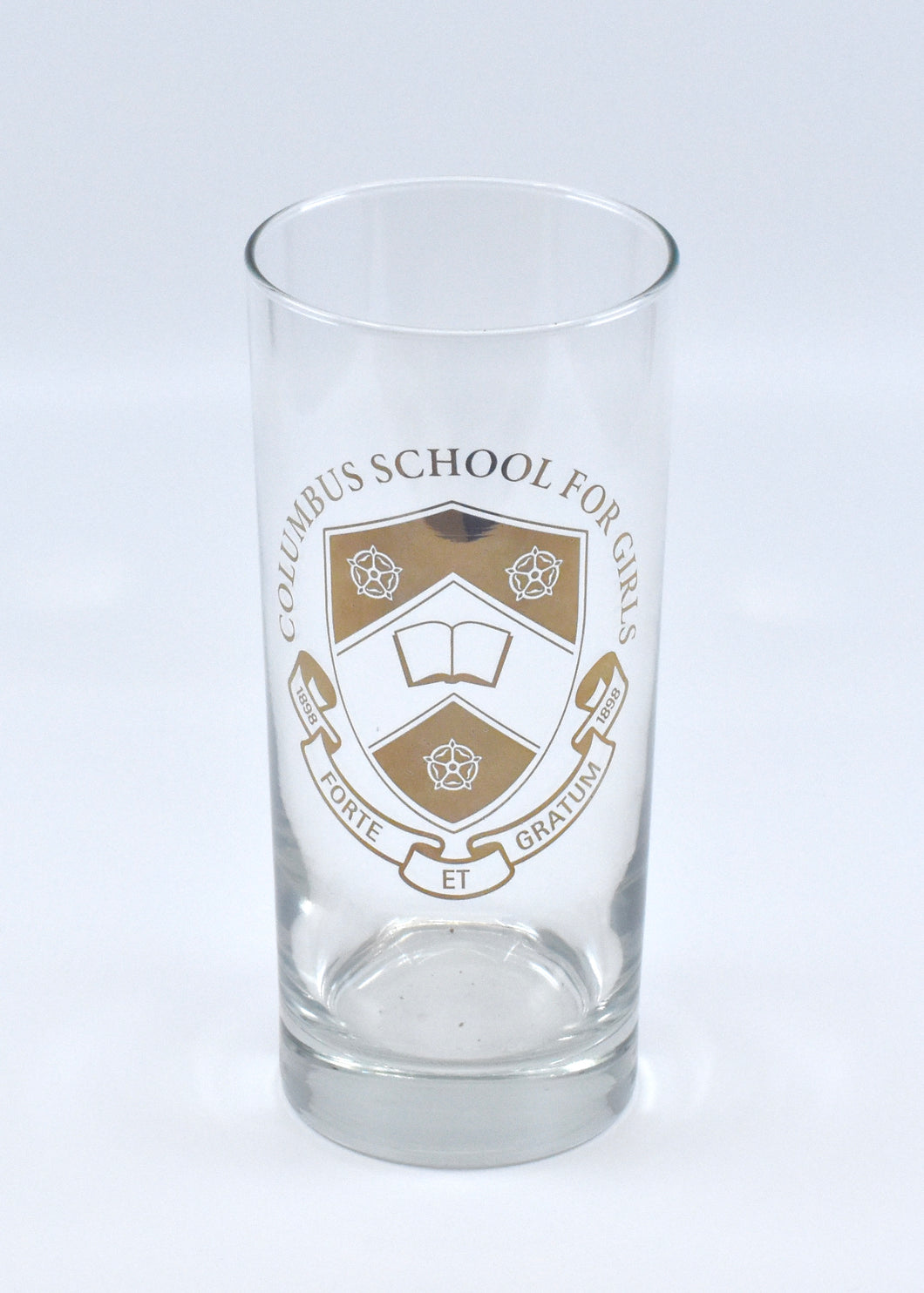 Highball Glass with 22K Gold Crest Imprint