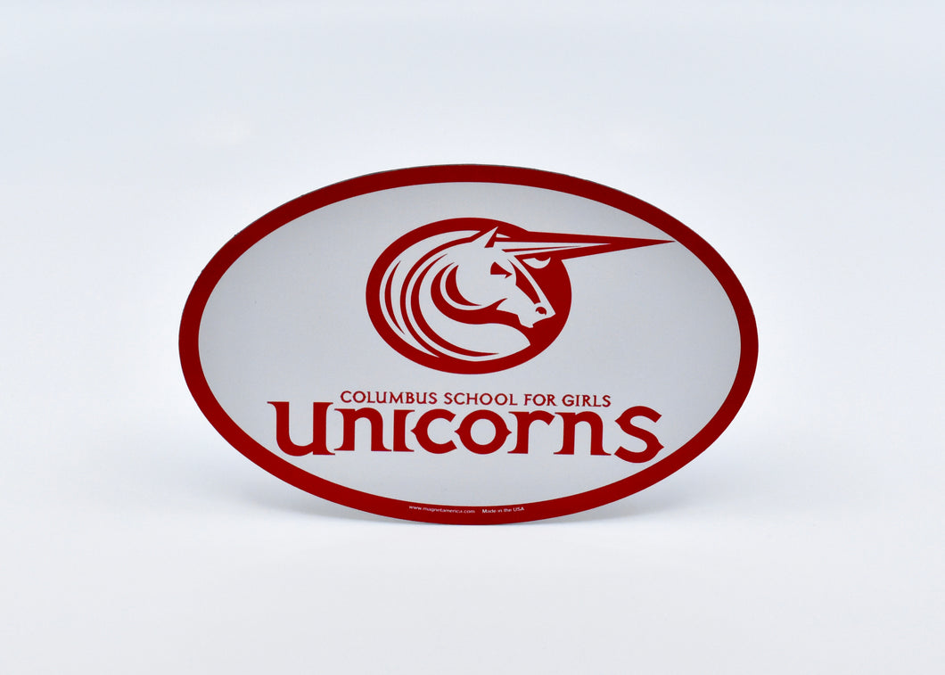 Car Magnet - Oval Unicorns