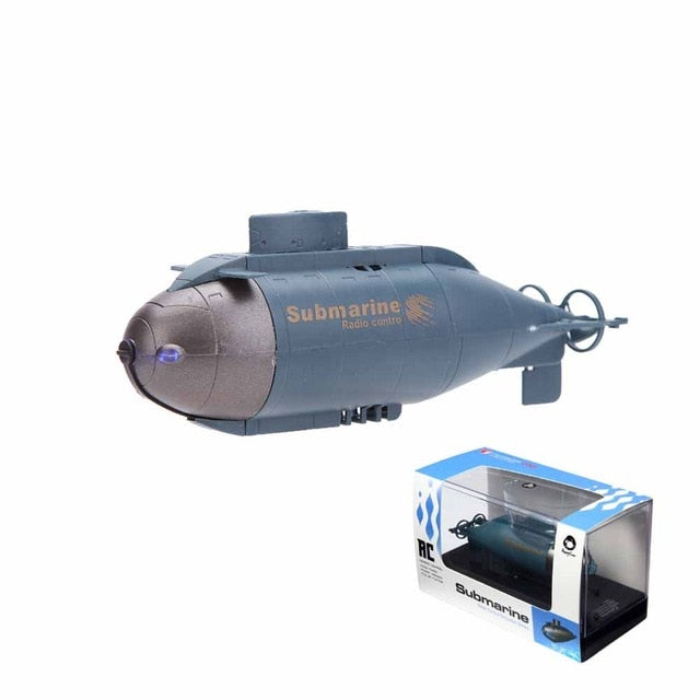 Happycow 777-216 Mini RC Nuclear Submarine High Speed Boat Remote Control  Drone Pigboat Simulation Model Gift Toy Kids