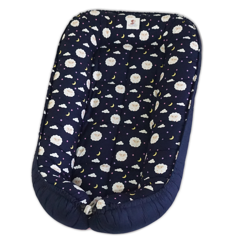 Babynest - Baby Sheep in Navy Blue