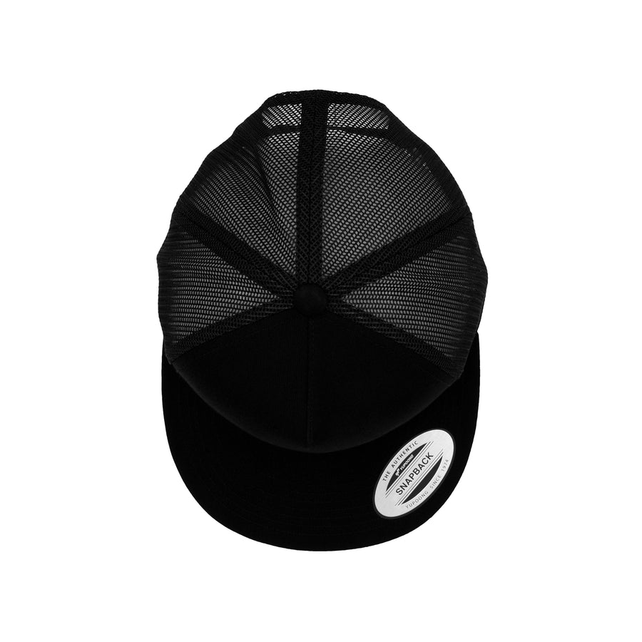 Trucker Snapback Flat peak - Black