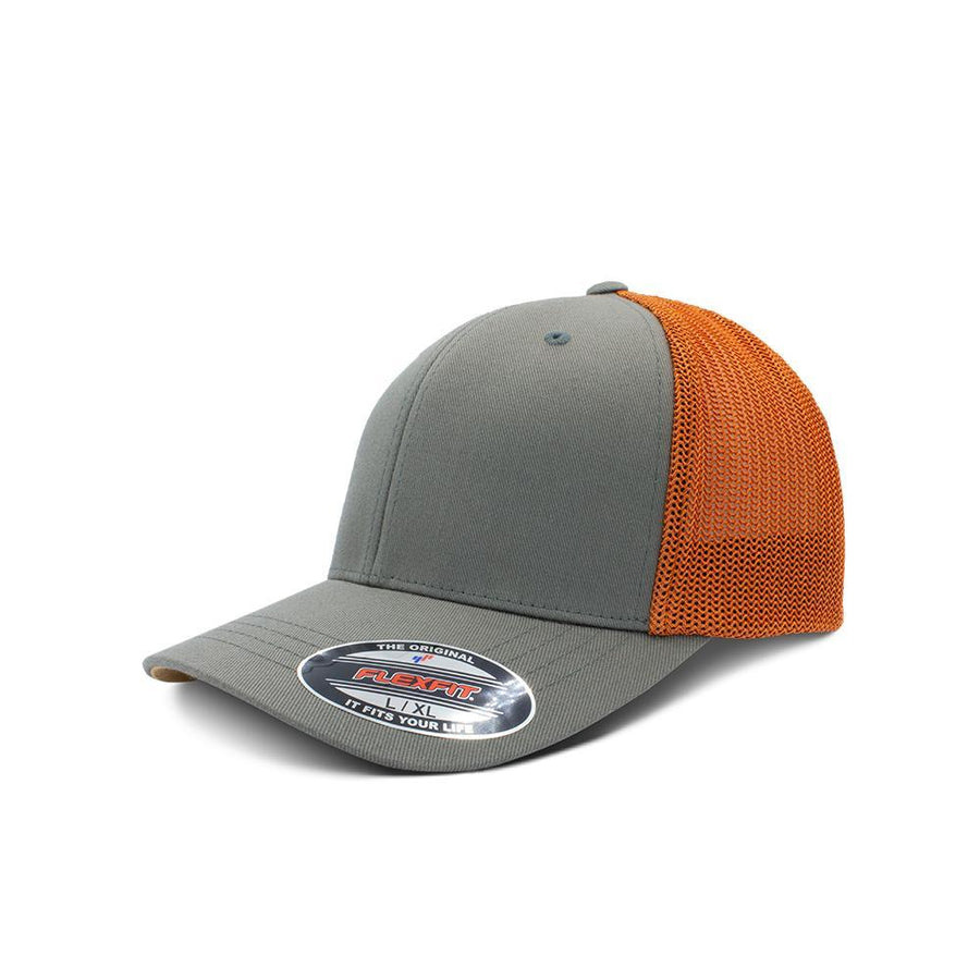 Flexfit Trucker - Pewter & Bombay Brown