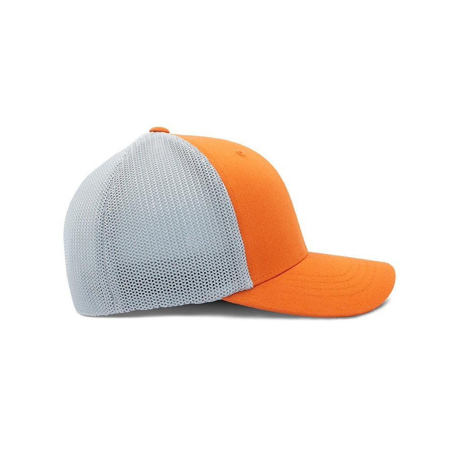 Flexfit Trucker - Rust Orange & Silver