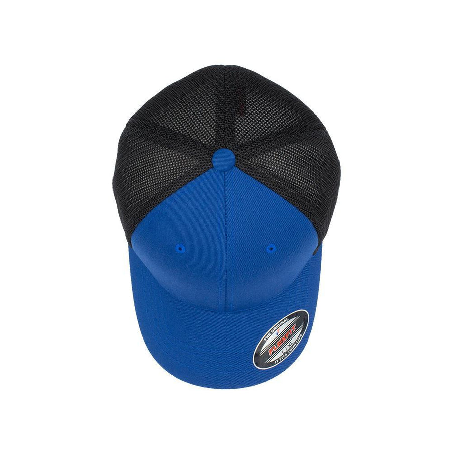 Flexfit Trucker - Royal Blue & Black