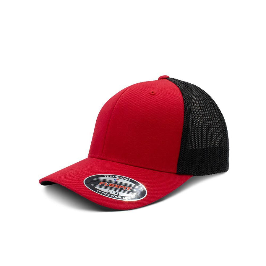 Flexfit Trucker - Red & Black