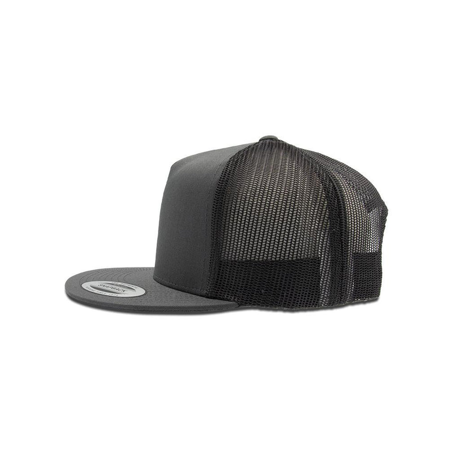 Trucker Snapback Flat Peak - Charcoal Grey
