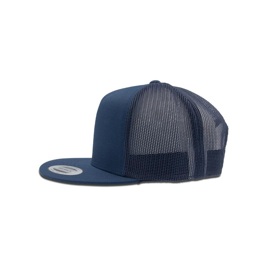 Trucker Snapback Flat Peak - Navy Blue