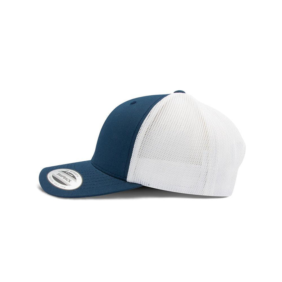 Trucker Snapback - Navy Blue & White