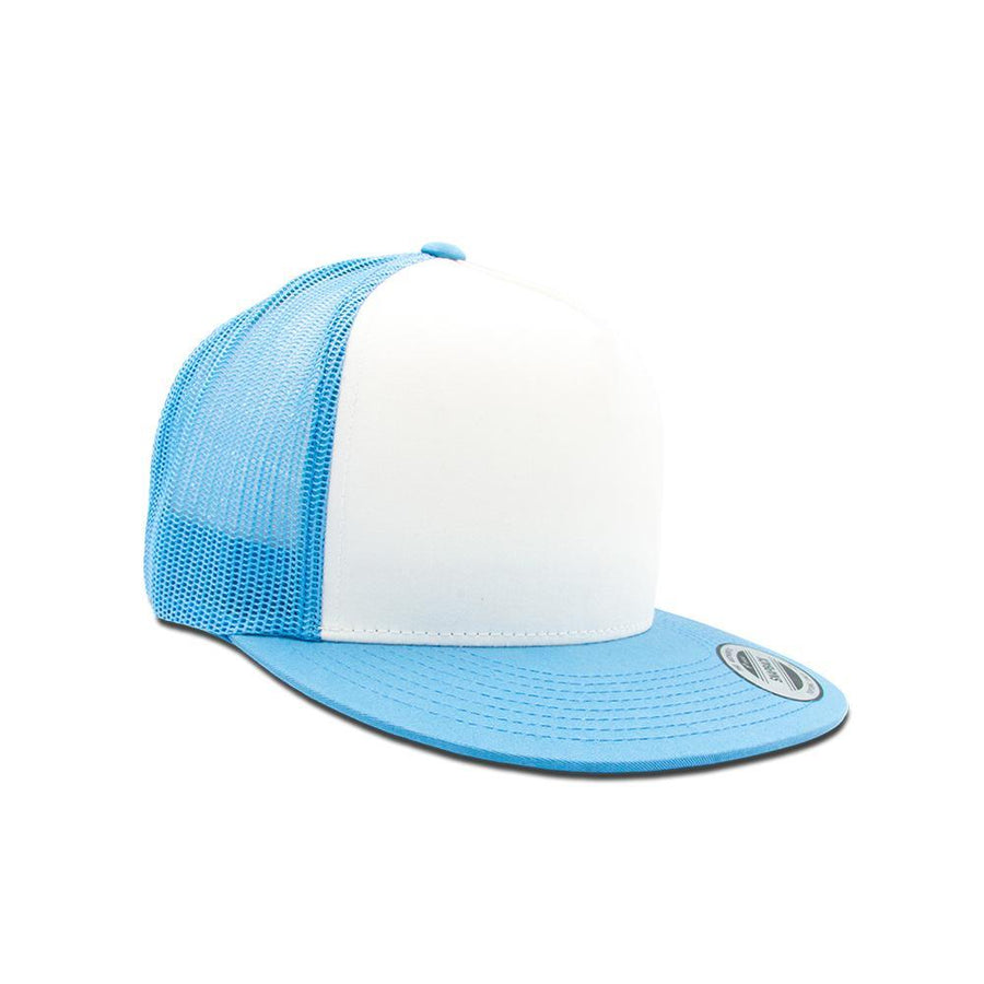 Trucker Snapback Flat Peak - C Blue & White