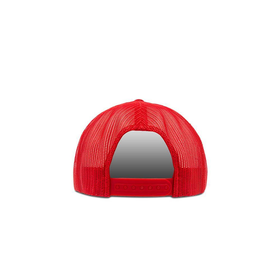 Trucker Snapback Flat Peak - Red & White