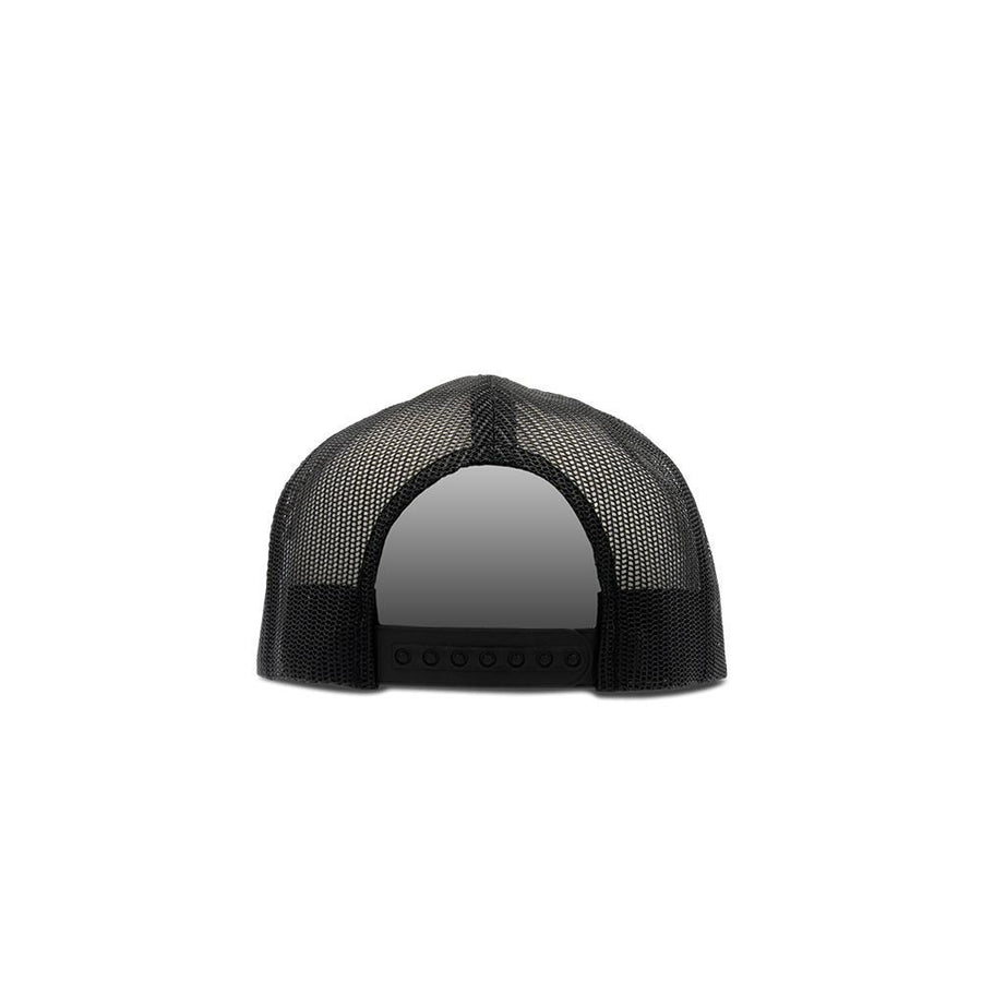 Trucker Snapback Flat Peak - Black & White