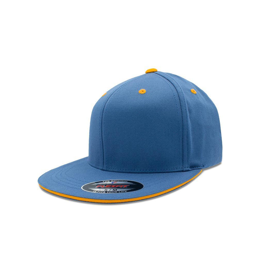Flexfit Flat Peak - Slate Blue & Vivid Yellow